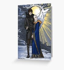 the sword and the saint Greeting Card
