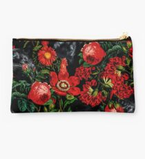Panther and Floral Pattern XO Studio Pouch