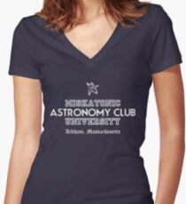 Miskatonic Uni Women's Fitted V-Neck T-Shirt