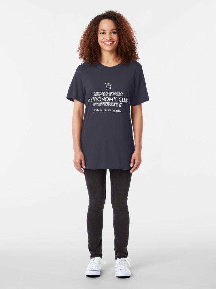 Alternative Ansicht von Miskatonic Uni Slim Fit T-Shirt