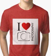 I love photography Tri-blend T-Shirt