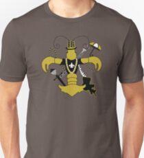 Black and Gold Crawfish Fleur de Lis T-Shirt