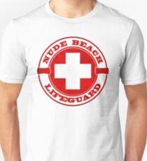 Nude Beach Lifeguard Unisex T-Shirt