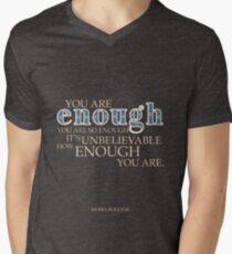 Camiseta de cuello en V Tú eres suficiente