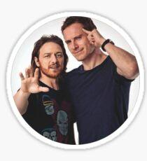 Fassbender and McAvoy Sticker