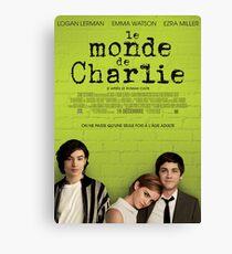 Le Monde De Charlie Affiche Canvas Print