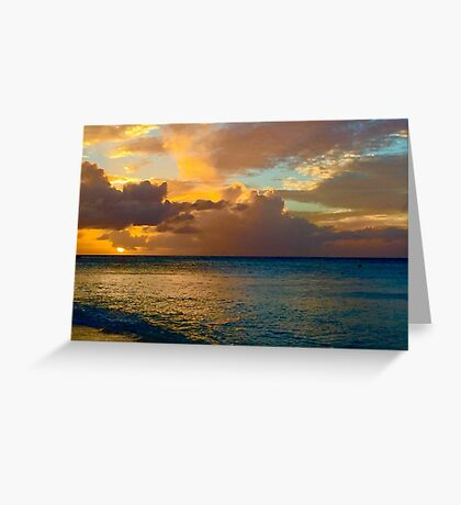 Antigua Sunset Greeting Card