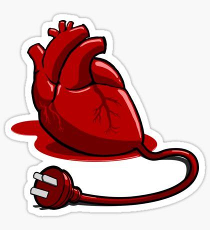 Unplug your heart Sticker