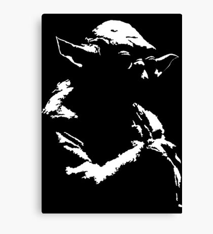 Star Wars Yoda Minimal  Canvas Print