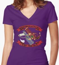 Slay Together, Stay Together - Bayonetta & Jeanne Women's Fitted V-Neck T-Shirt