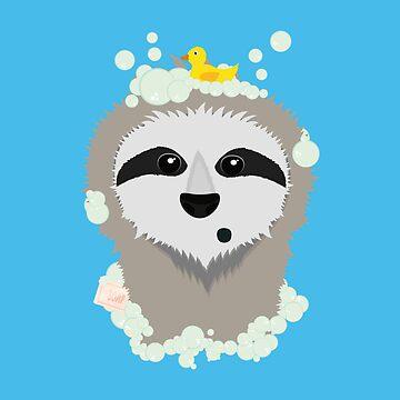 Sloth in bubbles by ilovecotton