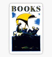 Books Allegory Sticker
