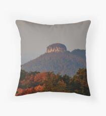 Pilot Mountain State Park Sunrise Throw Pillow