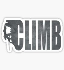 Awesome climbing shirt Sticker