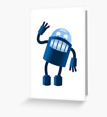 Robot says hi Greeting Card