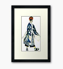 Hand-painted Character Framed Print