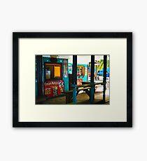 Coki Beach Shacks Framed Print
