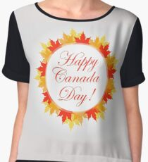 Happy Canada Day  Chiffon Top