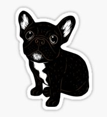 Cute Brindle Frenchie Puppy Sticker