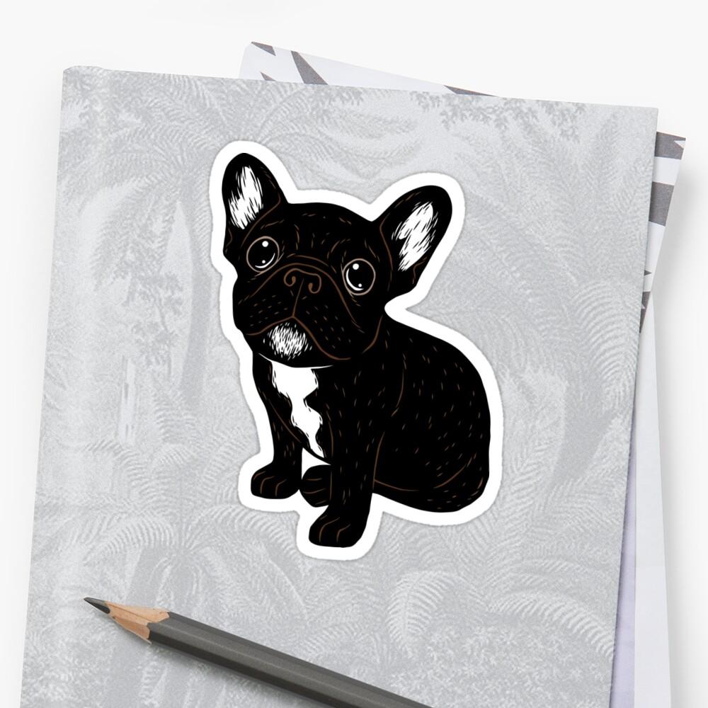 Cute Brindle Frenchie Puppy Sticker