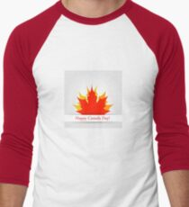 Happy Canada Day Men's Baseball ¾ T-Shirt