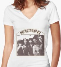 Mississippi Rock band Women's Fitted V-Neck T-Shirt