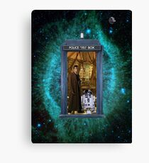 Artoo Meets Doctor Who Canvas Print