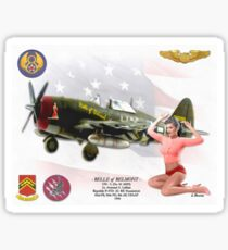 Belle of Belmont  (Republic P-47D Thunderbolt) Sticker