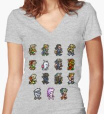 FINAL FANTASY VI Women's Fitted V-Neck T-Shirt