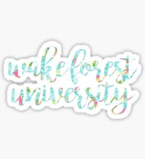 Wake Forest University Lilly Sticker