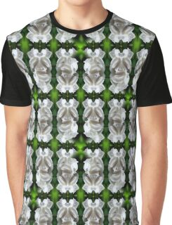 White Rose Abstract Nature Art Graphic T-Shirt