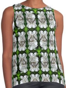 White Rose Abstract Nature Art Contrast Tank
