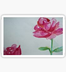Watercolor Roses Sticker