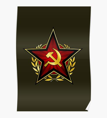 Russian Red Star Poster