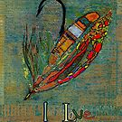 I Love Fly Fishing by Betsy  Seeton