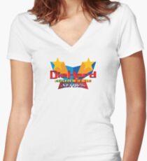 DieHard: Hardcore Series Logo Women's Fitted V-Neck T-Shirt