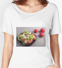 Small plate of natural salad of raw vegetables Women's Relaxed Fit T-Shirt