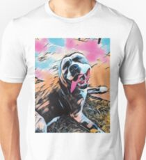 Comic Layla - American Staffordshire Terrier, Pit Bull, Rescue Unisex T-Shirt