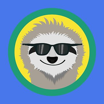 Cool Sloth with sunglasses by ilovecotton