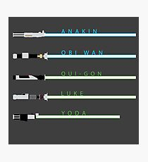 Lightsabers Photographic Print