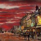 City - Palmerston North NZ - The shopping distirct 1908 by Mike  Savad