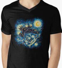Starry Flight Men's V-Neck T-Shirt