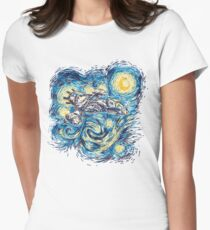 Starry Flight Womens Fitted T-Shirt