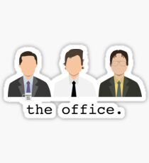 Jim, Dwight, Michael- The Office Sticker