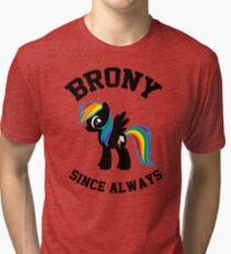 Brony college university - since always Tri-blend T-Shirt