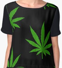 Marijuana Leaf Women's Chiffon Top