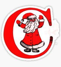 C for Celebration (or Christmas) Sticker