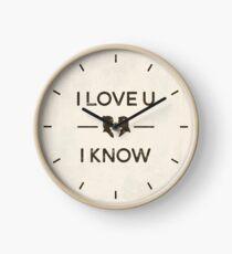 Star Wars - I Love You, I Know (Black) Clock