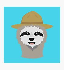Ranger Sloth with hat Photographic Print