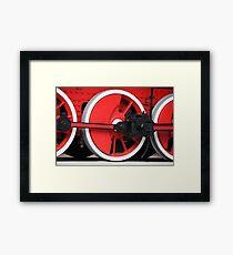 locomotive wheels flywheel Framed Print